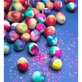 Confetti-filled cascarones
