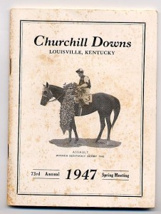 Churchill Downs 1947 spring meeting book