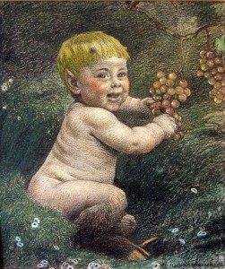 Grabwinkler painting of a young Pan