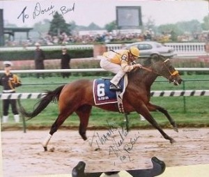 Photo signed by trainer of 1994 winner, Go for Gin