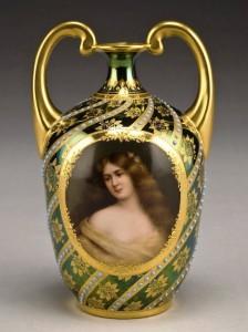 Royal Vienna style vase.