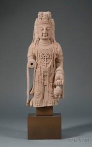 Sandstone image of the Buddha