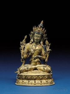 Gilt-bronze image of the Buddha