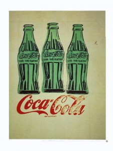 Andy Warhol's three Coke bottles offset litho