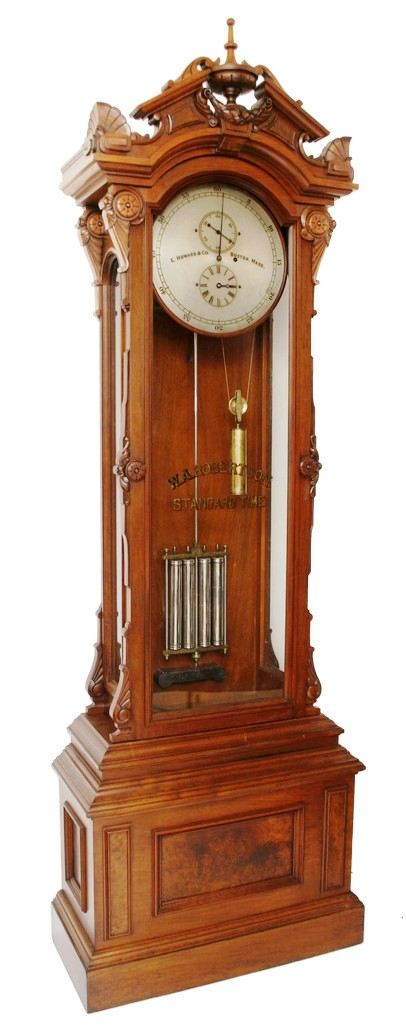 A rare and fine E. Howard & Company Model #61 floor standing astronomical regulator clock will be one of the hundreds of clocks and watches that will be up for auction on May 30-31 at Fontaine's Auction Gallery in Pittsfield, Mass.