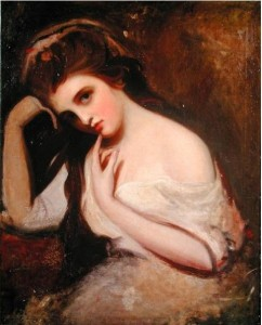 """Sketch of Emma Hamilton,"""" by George Romney (1734-1802), believed painted between 1782 and 1784."""
