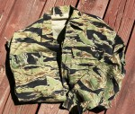 "A ""Golden tiger"" camouflage shirt is one of the more uncommon collectible finds from the Vietnam War era."