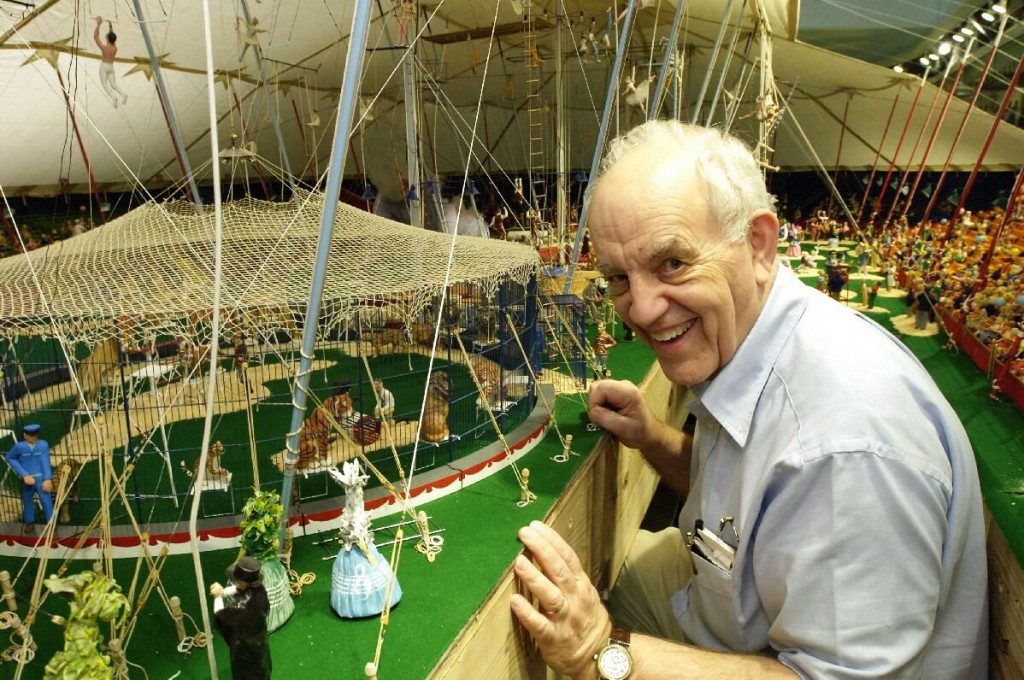 Howard C. Tibbals and the Howard Bros. Circus model—the largest miniature circus in the world—that has been more than 50 years in the making.