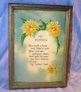 """My Mother"" plaque"