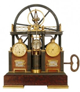 A French industrial steam engine clock that will be up for auction at Fontaine's Auction Gallery on May 30-31.