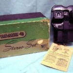 View-Master Stereo Set Viewer with Light Up attachment with instructions and original box, circa 1950.