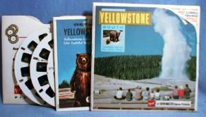 Yellowstone Lake and Old Faithful View-Master Reels, National Park Series. Three View-Master reels with picture tour booklet.