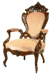 This chair by Belter illustrates the decorative flavor of the Rococo Revival of the mid 19th century.