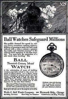"An advertisement for a ""Ball Watch."""
