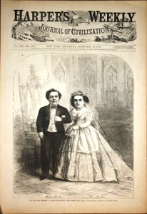 "Harper's Weekly,"" February 21, 1864 – ""Wedding of Mr. & Mrs. Charles Stratton (General Tom Thumb)"" from a photo by Mathew Brady."