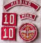 "A ""red and white"" council patchs and from a Hibbing, Minnesota, Sea Scout uniform."