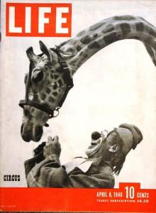 """Life"""" Magazine, April 8, 1946 – """"World Famous Clown Lou Jacobs."""""""