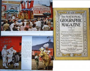 "National Geographic"" Magazines, October 1931 and March 1948."