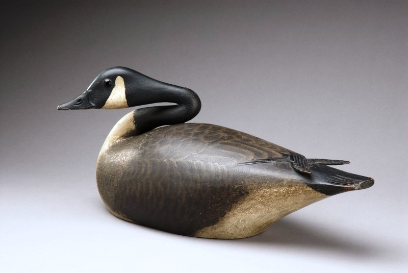 A nesting Canada goose by A. Elmer Crowell (1862-1952), East Harwich, Ma., circa 1900-1912. Estimated value at auction: $600,000 to $900,000. (Photo courtesy Copley Fine Art Auctions)