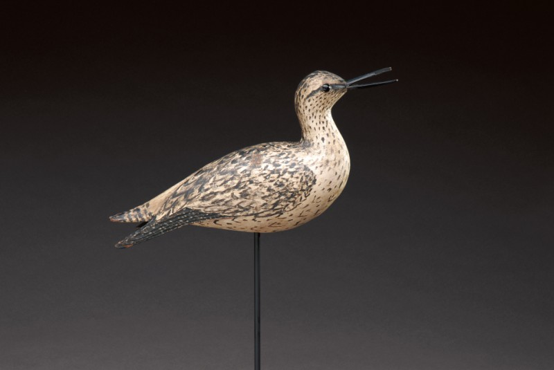 Open-bill Calling Yellowlegs with dropped wings by A. Elmer Crowell (1862-1952), East Harwich, Ma., circa 1910. Estimated value at auction: $150,000 to $250,000. (Photo courtesy Copley Fine Art Auctions)