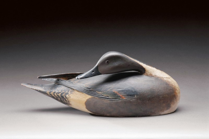 Preening Pintail drake by A. Elmer Crowell (1862-1952), East Harwich, Ma., circa 1900-1910. Estimated value at auction: $500,000 to $800,000. (Photo courtesy Copley Fine Art Auctions)