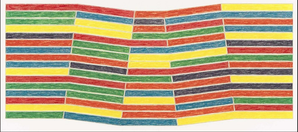 "Frank Stella's ""Sabine Pass,"" from ""Benjamin Moore Series"" (A. 61), lithograph in colors, 1971, estimated to sell for between $2,500 and 3,500 at Christie's will be presenting its mid-season ""Prints & Multiples""sale on July 22, 2009."