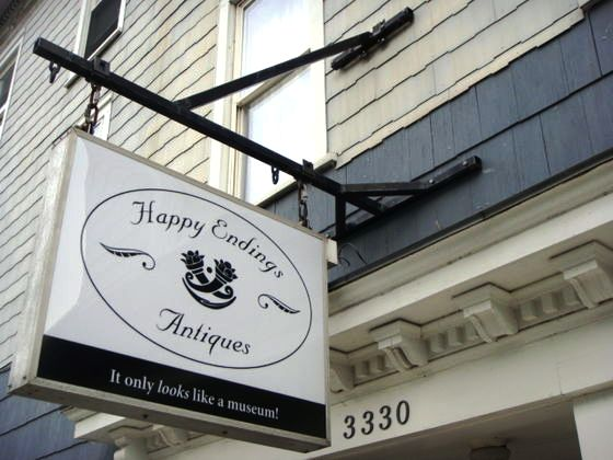 Happy Endings Antiques, in Amenia, N.Y., will sell off its entire collection before shutting its doors after only six months in Business. The owner says combination of factors—chief among them the poor economy—are forcing her to close the shop.