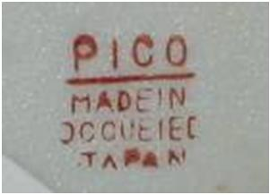 A nice clear maker's mark from Pico company.