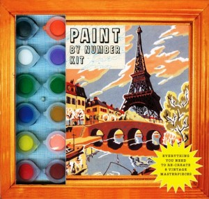 A current paint-by-numbers kit, which can be purchased at any art supply store, drug store or the nearest Wal-Mat or Target.