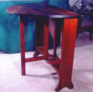 "A Sutherland table with a very narrow top is also sometimes called a ""tuckaway"" table."