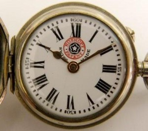 The face of a Georges Frederic Roskopf watch.