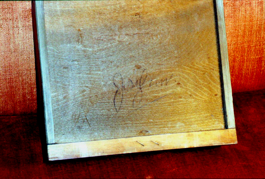 The signature on this drawer bottom is a good start to establishing a provenance for the piece. But is the signature that of the cabinetmaker, the owner or a hopeful heir? That's where the fun begins.