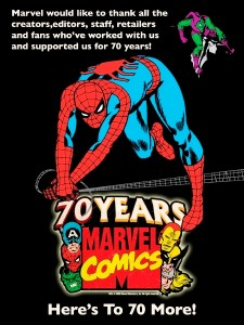 Marvel Comics' 70th birthday