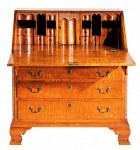18th century Chippendale tiger maple desk