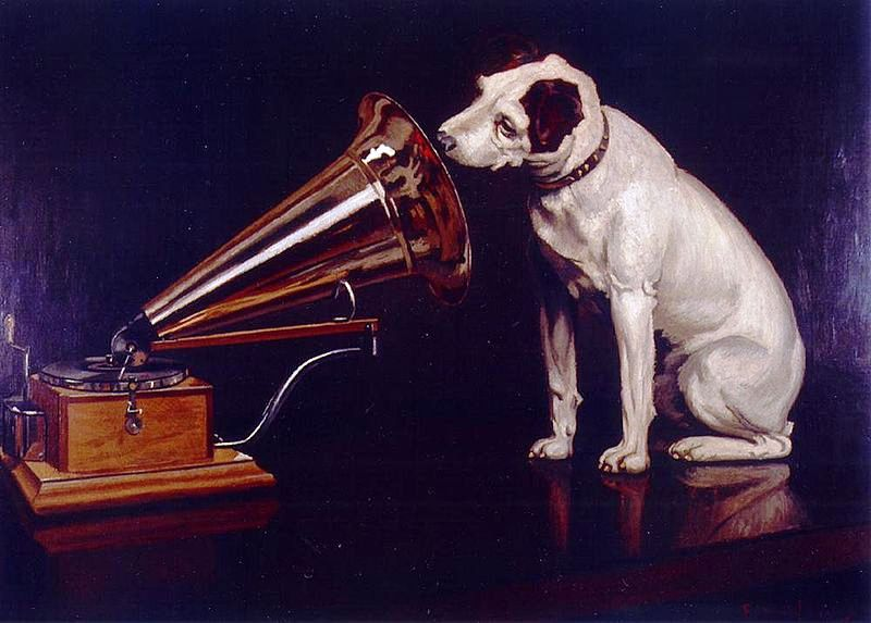 "Dog Looking at and Listening to a Phonograph,"" painted by Francis Barraud, would become one of the best know advertising images in the world."