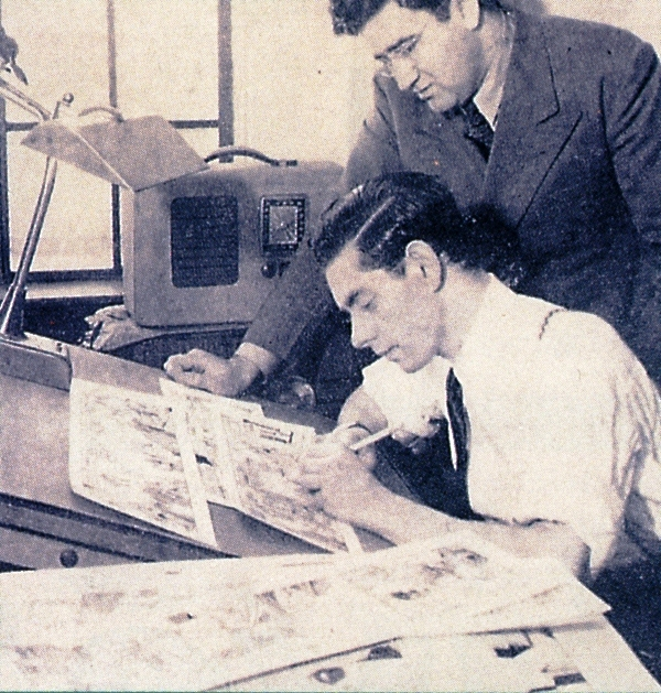 Superman creators Jerry Siegel and Joseph Shuster.