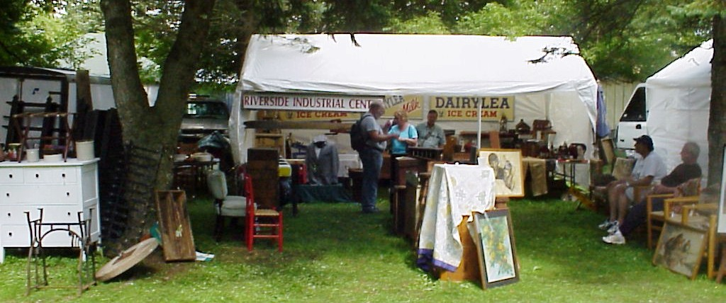 One of the tensts set up at last weekend's Madison-Bouckville Outdoor Antiques Show in upstate New York.