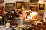 Wares on sale at one of the dealer tents at the Great American Antiquefest!