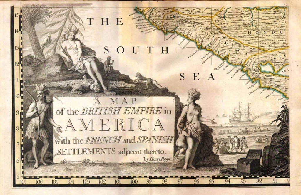 "Henry Popple's ""Map of the British Empire in North America,"" published in 1734, is expected top lot of the Sept. 4-16 Internet hosted by Old World Auctions."
