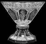 One of the lots at the ABCG auction is this exceptional 13-inch-by-15-inch signed Sinclaire ABCG punch bowl, in the Intaglio & Brilliant pattern.