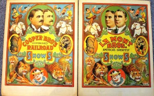An example of stock graphics provided by courier printers. Notice the two covers in the first image are identical except for the show title and the owner portraits. There's a blank area on the bottom of the covers to imprint the show day, date and location.