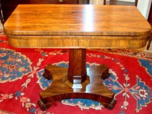 A William IV Rosewood Card Table, circa 1825.