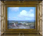 "An oil-on-panel painting by Julian Onderdonk, titled ""Rock Quarries,"" sold for $29,900."