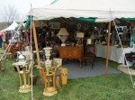 Dealers attending the Brims range from tented showrooms . . .