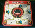 "This ""Spell It"" educational toy by Cadaco-Ellis of Merchandise Mart, Chicago, is copyrighted 1950."