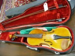 One lot comprising two nice old violins was a surprise hit of the sale, rising to $3,100.