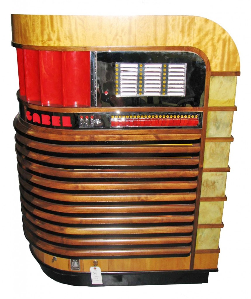 This extremely rare 1940 Gabel Kuro jukebox, one of only six known, sold for a world record $120,750 and was the top-selling item at a sale hosted by Hal Hunt Auctions on Oct. 3.