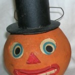 The earliest versions of commercial jack-o-lanterns were painted glass globes from Germany and date to around 1905