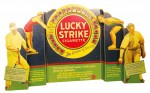This rare Lucky Strike three-dimensional die-cut quad-fold store window cardboard display sold for $6,325.