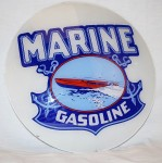 The top lot of the sale was this Marine Gasoline 15-inch lens in metal globe body, garnering $10,450.